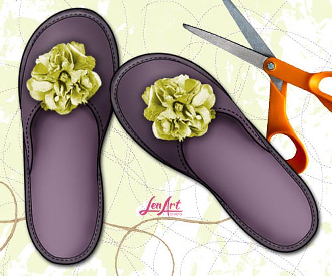 kroj za papuce